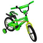 Детский велосипед Azimut Stitch 14 дюймов зеленый, фото 2