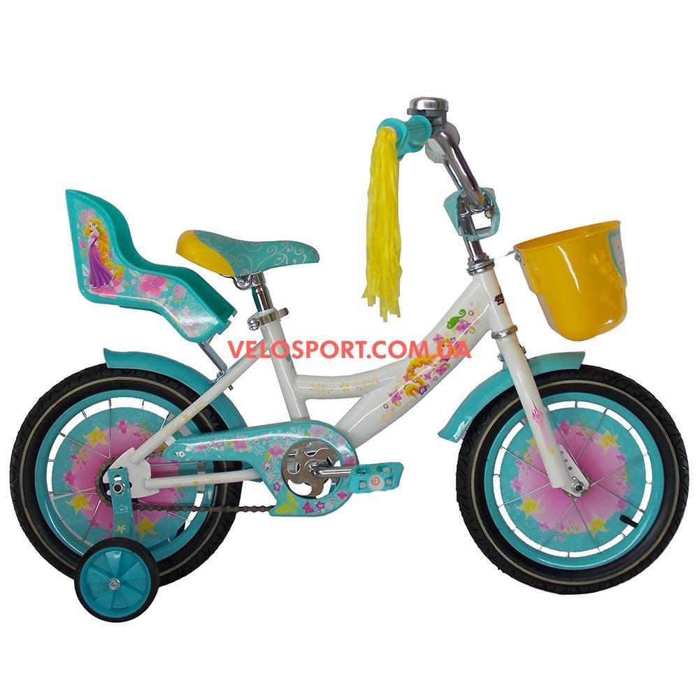 Детский велосипед Azimut Girls 14 дюймов бирюзовый
