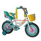 Детский велосипед Azimut Girls 14 дюймов бирюзовый, фото 2