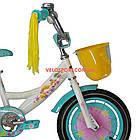Детский велосипед Azimut Girls 14 дюймов бирюзовый, фото 3