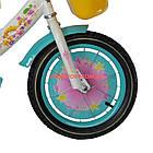 Детский велосипед Azimut Girls 14 дюймов бирюзовый, фото 4