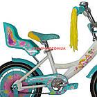 Детский велосипед Azimut Girls 14 дюймов бирюзовый, фото 5