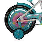 Детский велосипед Azimut Girls 14 дюймов бирюзовый, фото 6