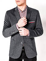 Мужской Мужской кэжуал пиджак P74 - dark grey Темно-серый, 50