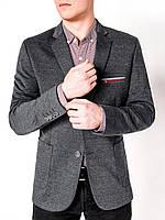 Мужской Пиджак мужской кэжуал P74 - Темно- Серый S, Темно- Серый