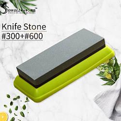 Камень точильный водный 300/600 Green Large (точильный брусок)