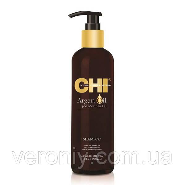 Восстанавливающий шампунь CHI Argan Oil Shampoo, 335  мл