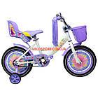 Детский велосипед Azimut Girls 14 дюймов фиолетовый, фото 3