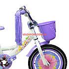 Детский велосипед Azimut Girls 14 дюймов фиолетовый, фото 4