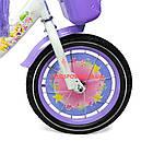 Детский велосипед Azimut Girls 14 дюймов фиолетовый, фото 5