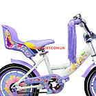 Детский велосипед Azimut Girls 14 дюймов фиолетовый, фото 6