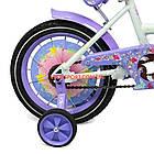 Детский велосипед Azimut Girls 14 дюймов фиолетовый, фото 7