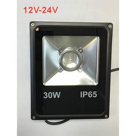 Уличный линзованый прожектор 30W 12-24V 6400К IP65 Код.59545