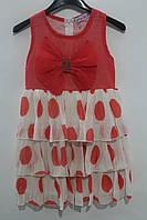 Летнее платье для девочек 4- 10 лет