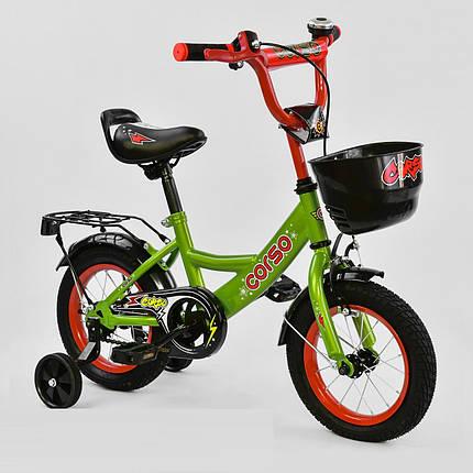 """Велосипед 12"""" дюймов 2-х колёсный G-12517 """"CORSO, ручной тормоз, звоночек, сидение с ручкой, дополнительные ко, фото 2"""