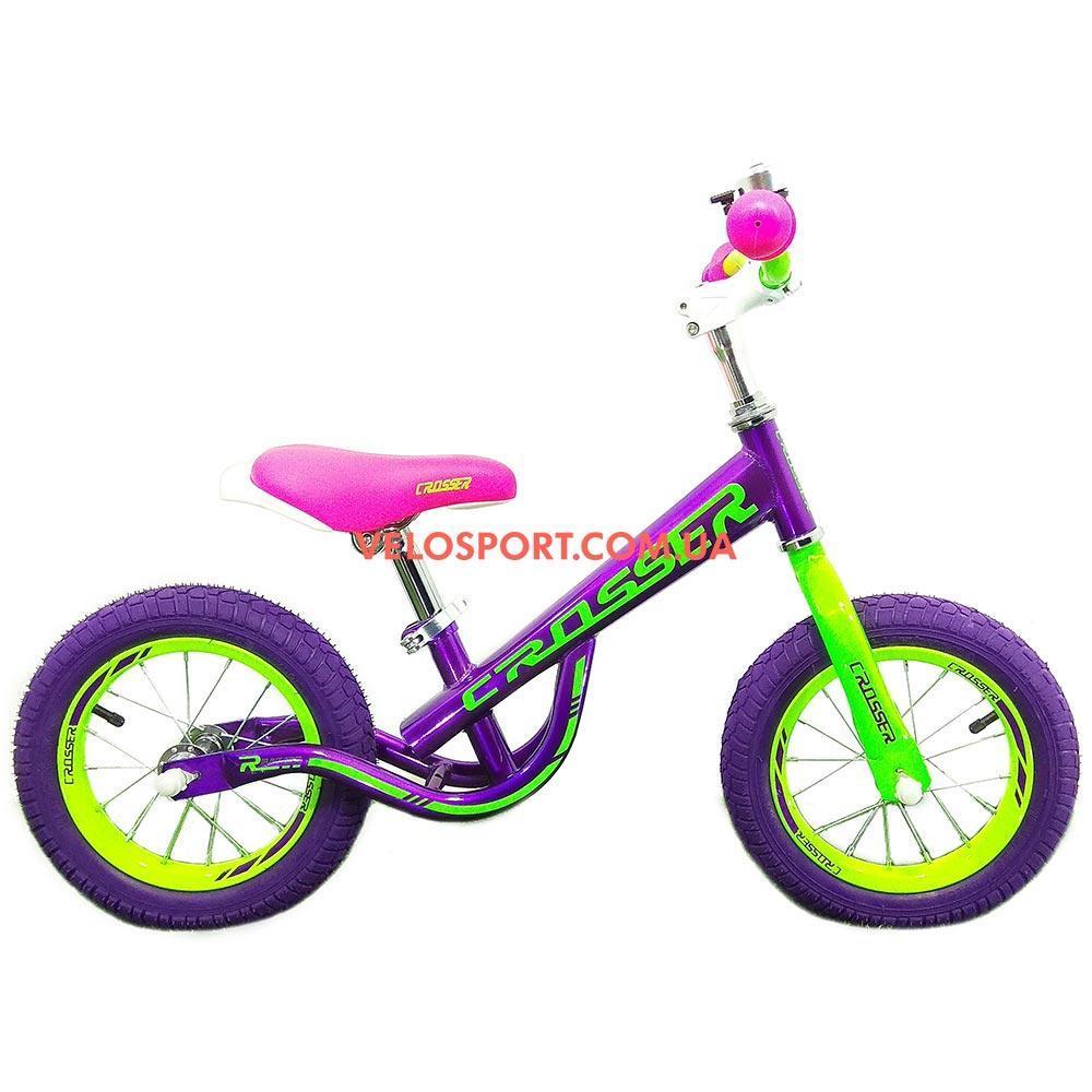 Детский  беговел Crosser 14 дюймов фиолетовый