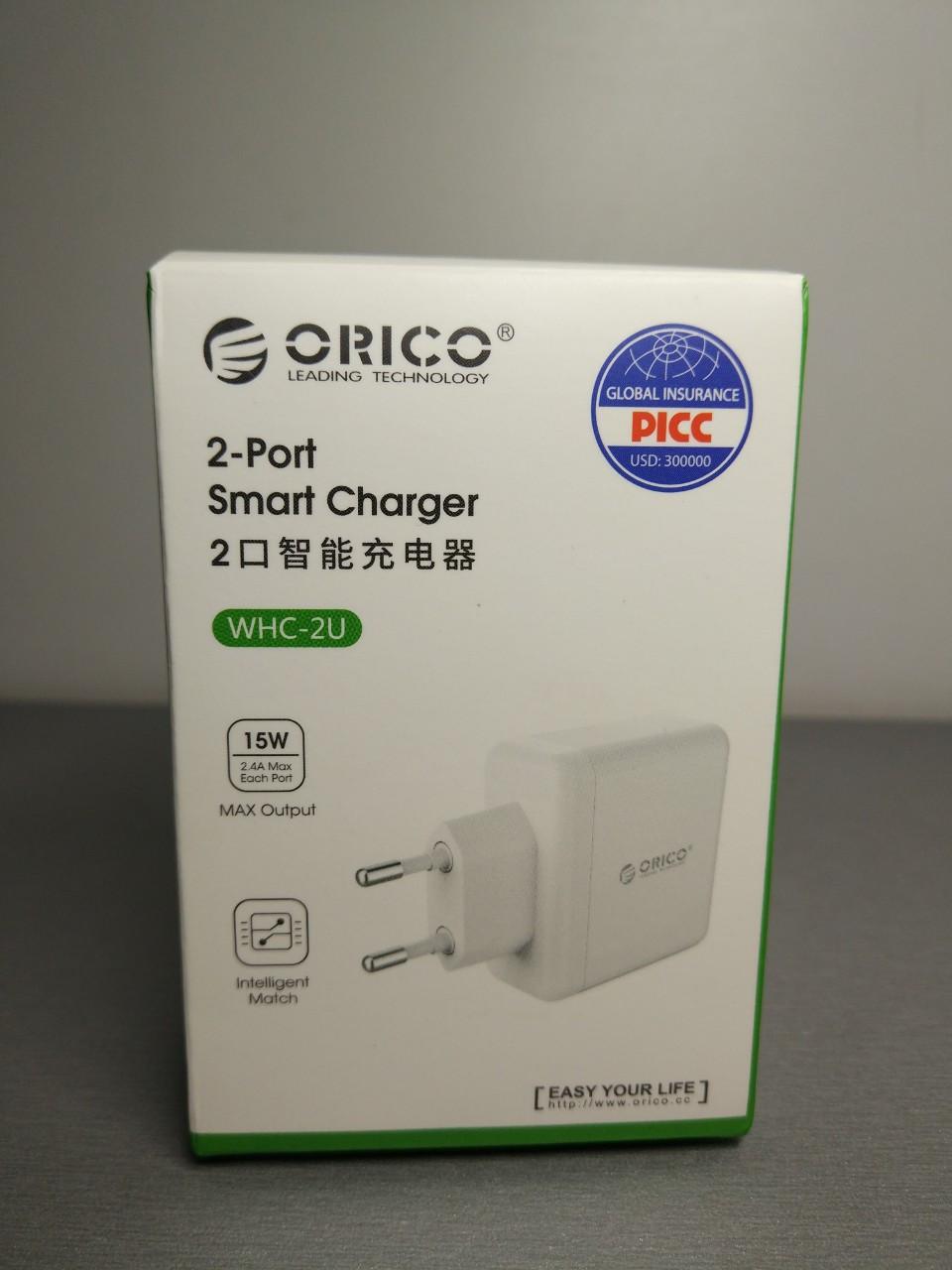 Зарядное устройство ORICO WHA-2U 2 порта
