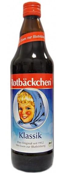 Сок натуральный без сахара Румяные щечки Rabenhorst - 750мл