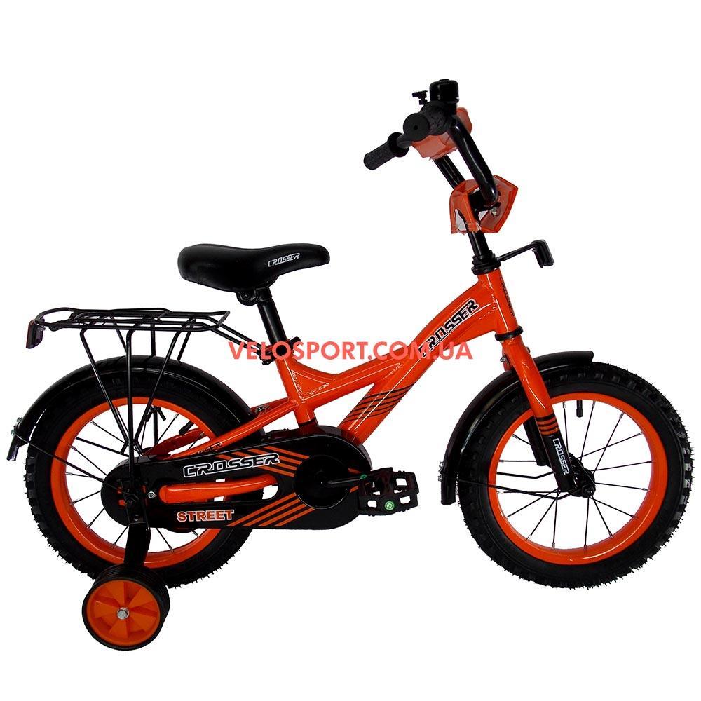 Детский велосипед Crosser Street 14 дюймов оранжевый