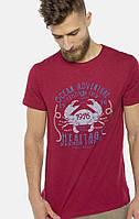 Мужская красная футболка MR520 MR 125 1670 0219 Bordo
