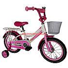 Детский велосипед Crosser Happy 14 дюймов бело-розовый, фото 2
