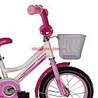 Детский велосипед Crosser Happy 14 дюймов бело-розовый, фото 3