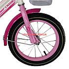 Детский велосипед Crosser Happy 14 дюймов бело-розовый, фото 4