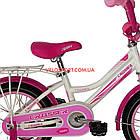 Детский велосипед Crosser Happy 14 дюймов бело-розовый, фото 5