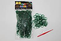 600 штук темно зеленых резиночек для плетения Loom Bands