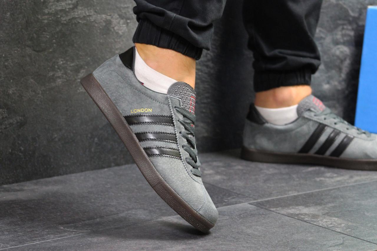 f5076ee67 Мужские кроссовки в стиле Adidas London, серые 45 (28,8 см), цена 1 100  грн., купить в Киеве — Prom.ua (ID#938881755)