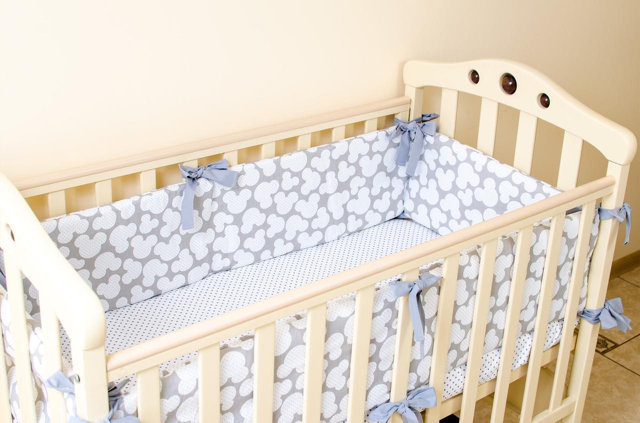 Бортики защитные  в детскую кроватку 360см х 27см