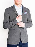 Мужской Пиджак мужской кежуал P95 – Темно- Серый/меланж S, Темно- Серый