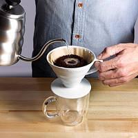 Пуровер Hario V60 01 White Ceramic (300 мл) для заваривания фильтр-кофе, фото 1