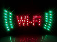 """Светодиодная вывеска """"WIFI"""", светодиодная рекламная вывеска, светодиодное табло!В ТОПЕ"""