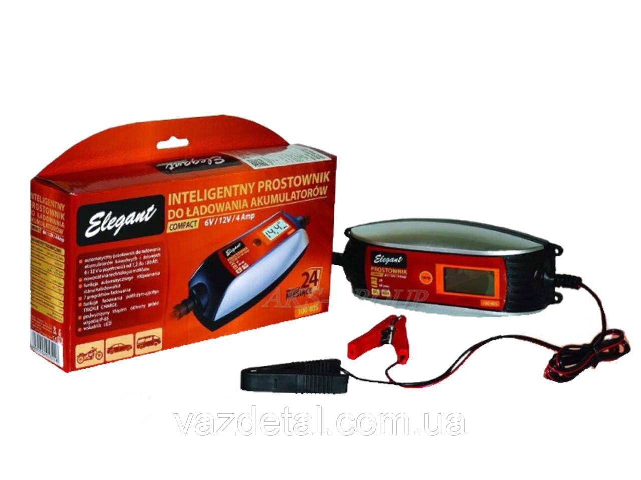 Зарядний пристрій ELEGANT 6-12V 4А 100 405