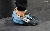 Мужские кроссовки в стиле Asics Gel Lyte III, серые с голубым