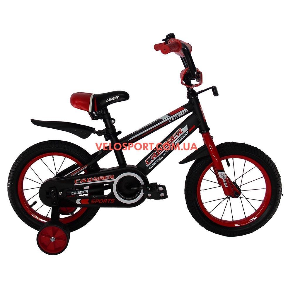 Детский велосипед Crosser Sports 14 дюймов черно-красный
