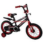 Детский велосипед Crosser Sports 14 дюймов черно-красный, фото 2