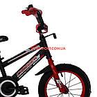 Детский велосипед Crosser Sports 14 дюймов черно-красный, фото 3
