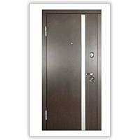 Дверь входная металлическая АV-1 Венге темный/ Белый шелк 110 Квартирная