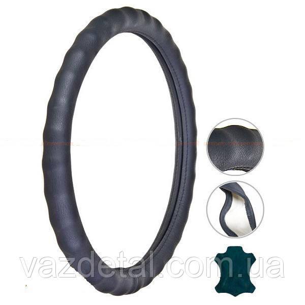 Чeхол руля VITOL  L VL121022 BK черный
