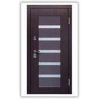 Дверь входная металлическая MILANO Венге темный 117 Квартирная