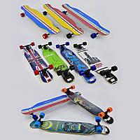 Скейт-лонгборд С 32022 (6 видов), подшипник АВЕС-11, колёса PU, d=7 см