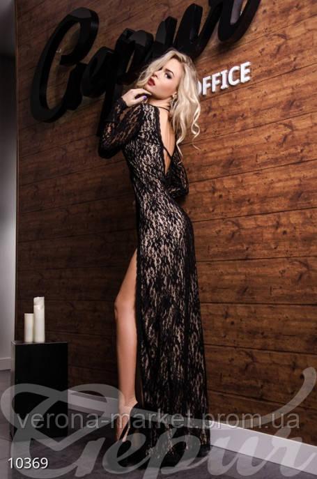 Платье женское гипюр вырез на спине