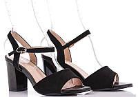 Черные женские замшевые босоножки на невысоком каблуке  36 37 38 39 40 41 36