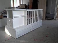 Детская кровать трансформер от 0 до 12 лет модель 08