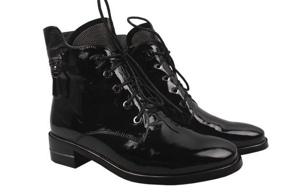 Ботинки Brocoly лаковая натуральная кожа, цвет черный