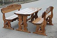 Деревянная приусадебная мебель с лавками