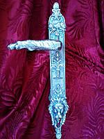 "Дверная ручка ""Лев"" из латуни покрыта серебром"