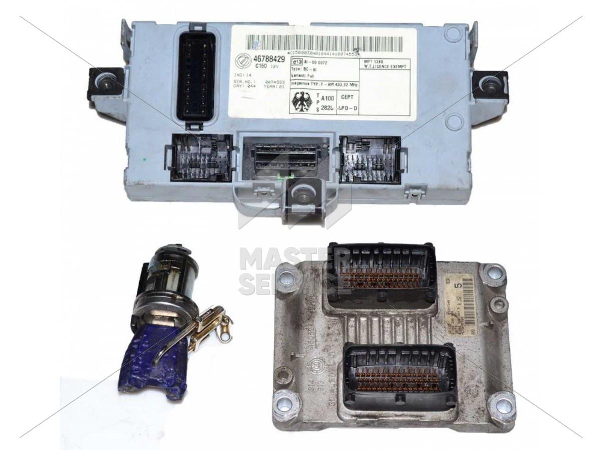 Блок управления двигателем 1.2 для Fiat Punto II 2000-2003 0261206980, 0261207901, 46553308, 46801964, 55180311